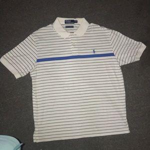 Men's Ralph Lauren Striped Polo: Size Large.